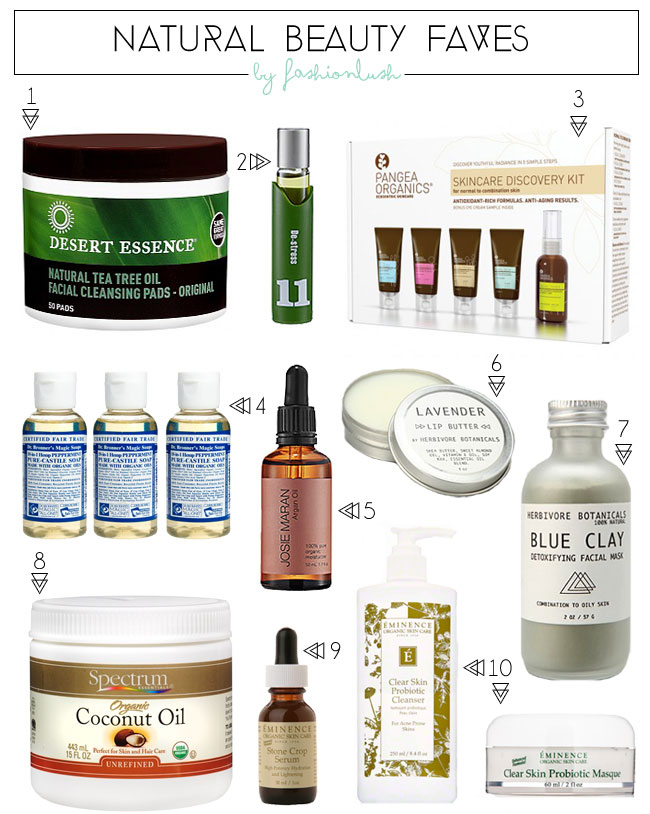 Top 10 natural beauty products for List of natural items