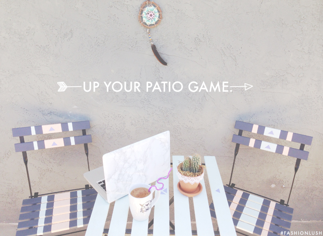 Fashionlush x F21: DIY Hand Painted Bistro Set | Fashionlush