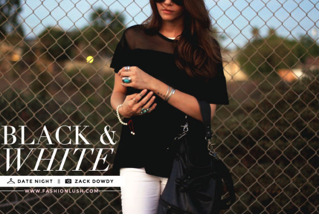 black and white date night style