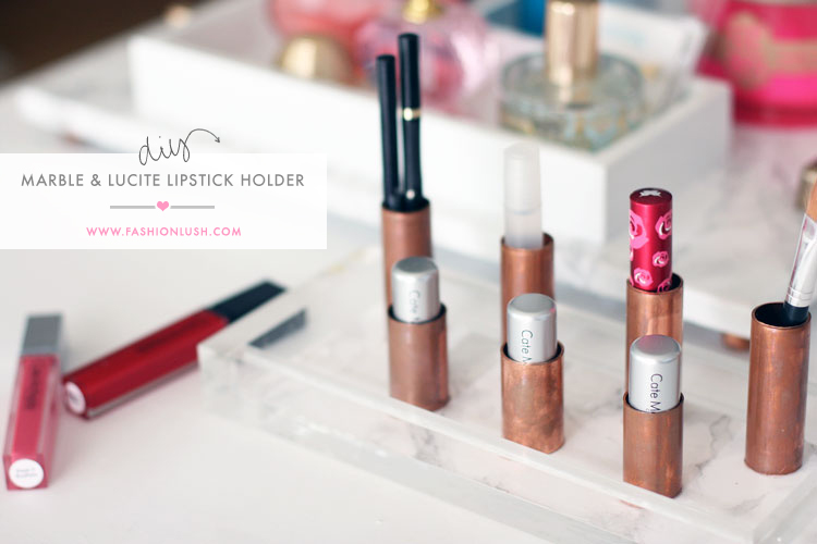 fashionlush, diy lipstick holder, home decor