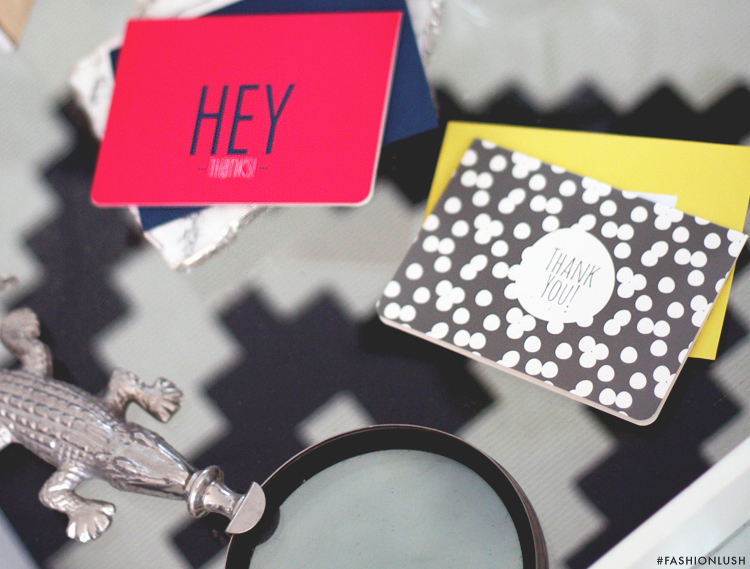 fashionlush, target dollar section, thank you cards