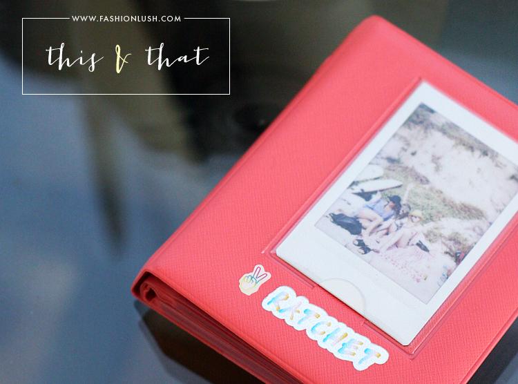 fashionlush, instax mini, polaroid photo album