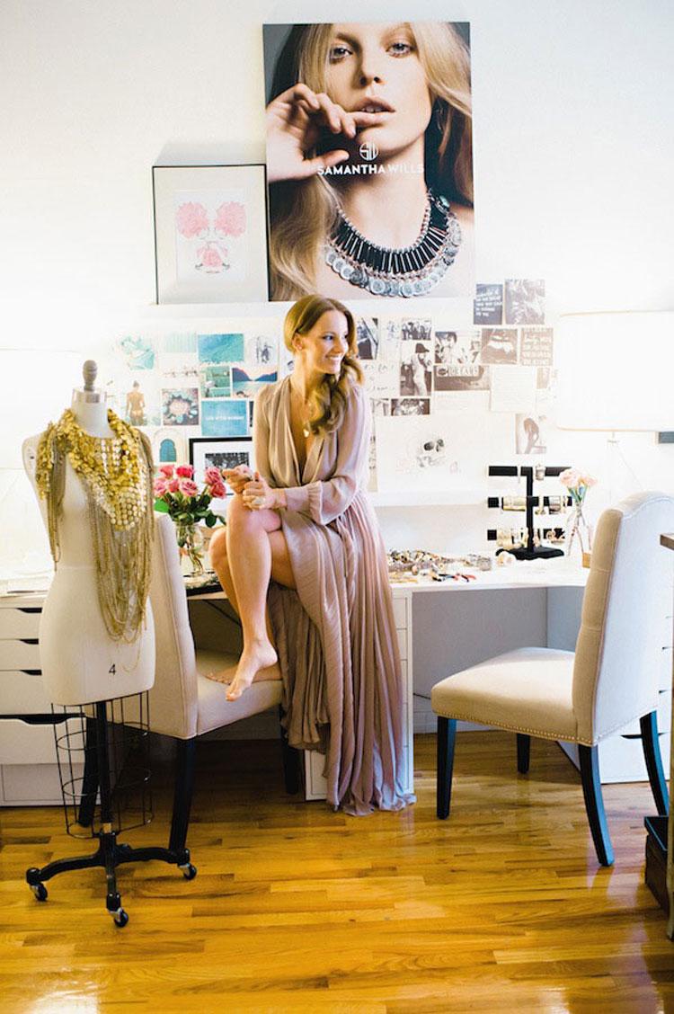 fashionlush, samantha wills, creative studio space