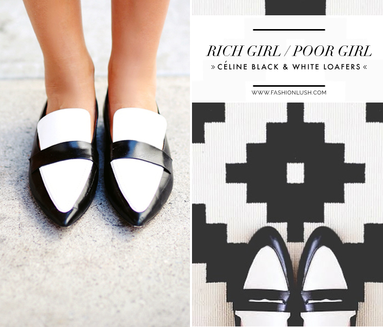 fashionlush, black and white celine loafers, weworewhat celine