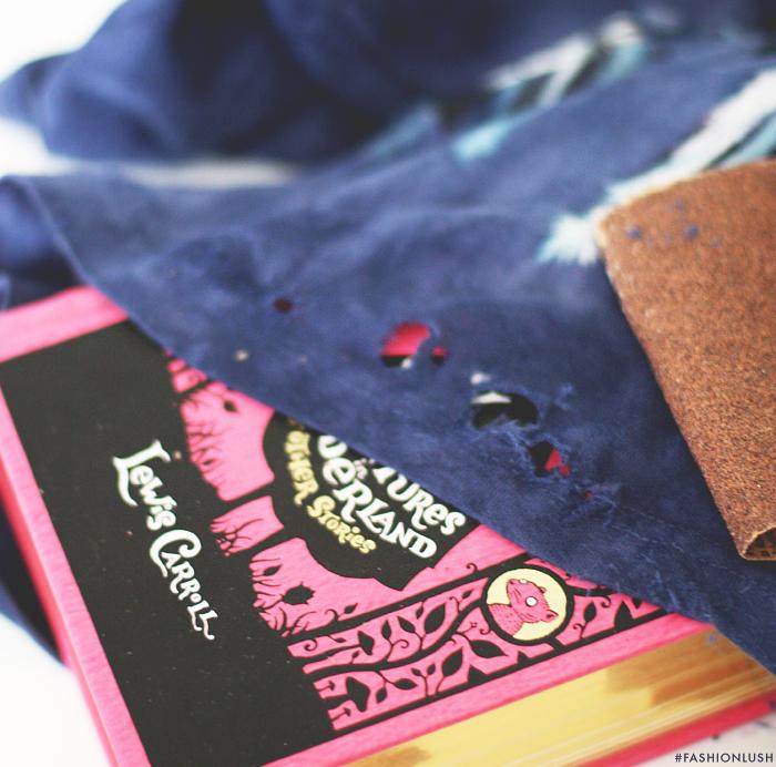 fashionlush, diy distressed t-shirt, balmain t-shirt