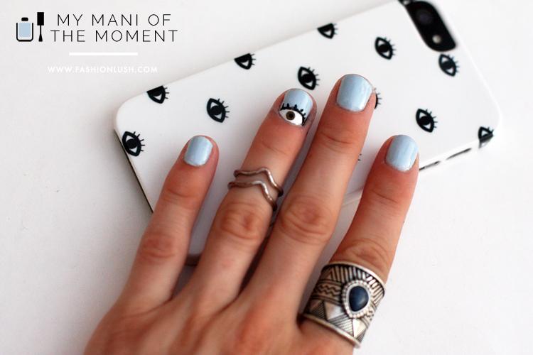 fashionlush, eyeball nail art, nail art for beginners