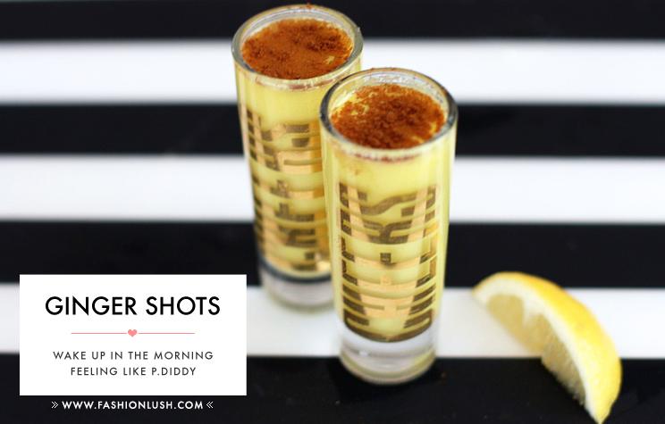 fashionlush, ginger shots, natural energy