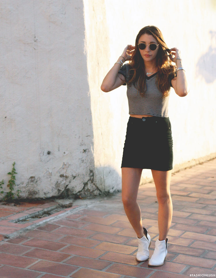 jeffery campbell oriley boots, fashionlush, crop top ootd