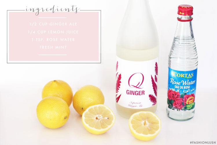 ginger ale recipe, rose lemonade, fashionlush, drink recipe