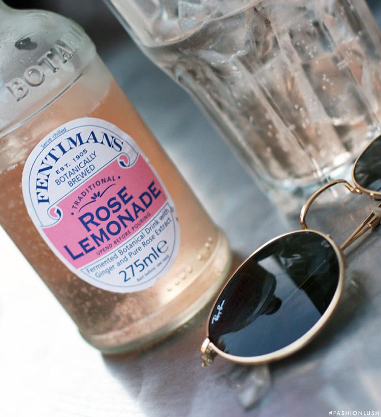 fashionlush, rose lemonade, drink recipes