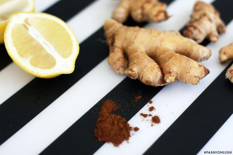 fashionlush, ginger wellness shots, natural energy