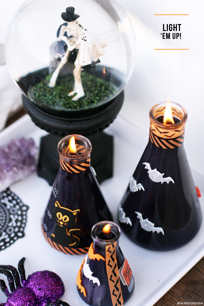 fashionlush, halloween decor, do it yourself, candle making