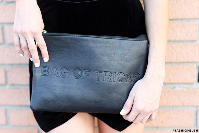 bag of tricks clutch, fashionlush, date night style