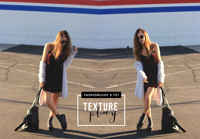 fashionlush, forever 21, texture mixing