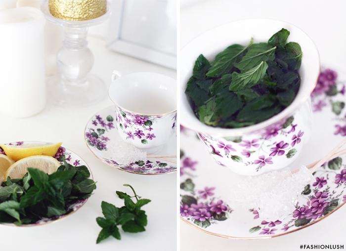 fashionlush, fresh mint tea, copenhagen the living room
