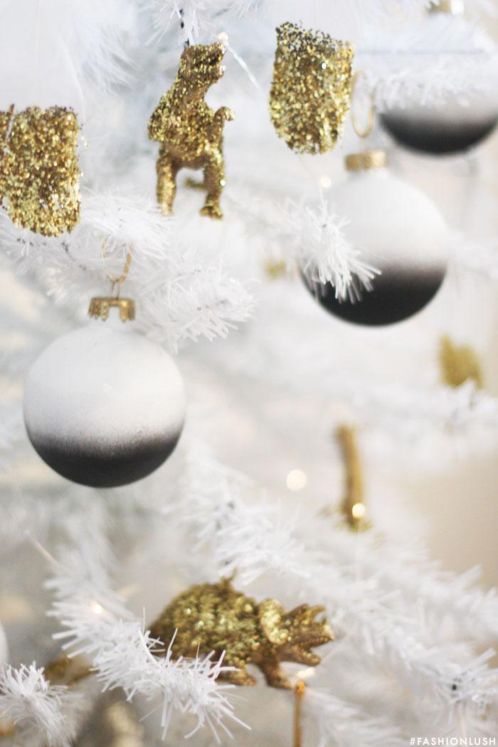My Diy Black White Christmas Tree