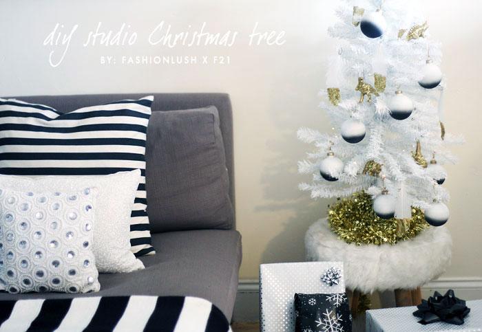 fashionlush, minimalist christmas tree, holiday diy