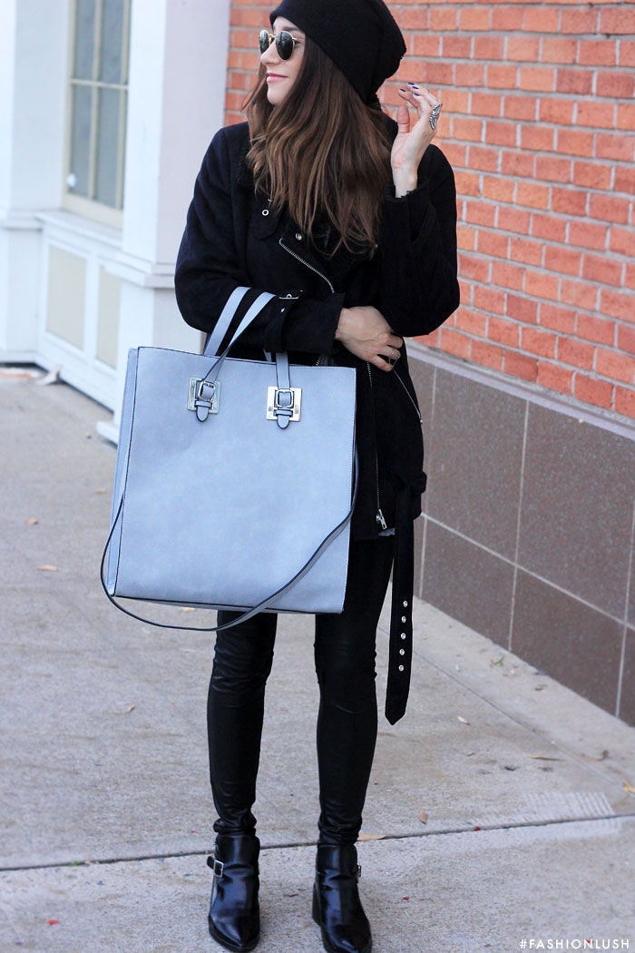 fashionlush, acne shearling coat, winder fashion 2015, structured tote