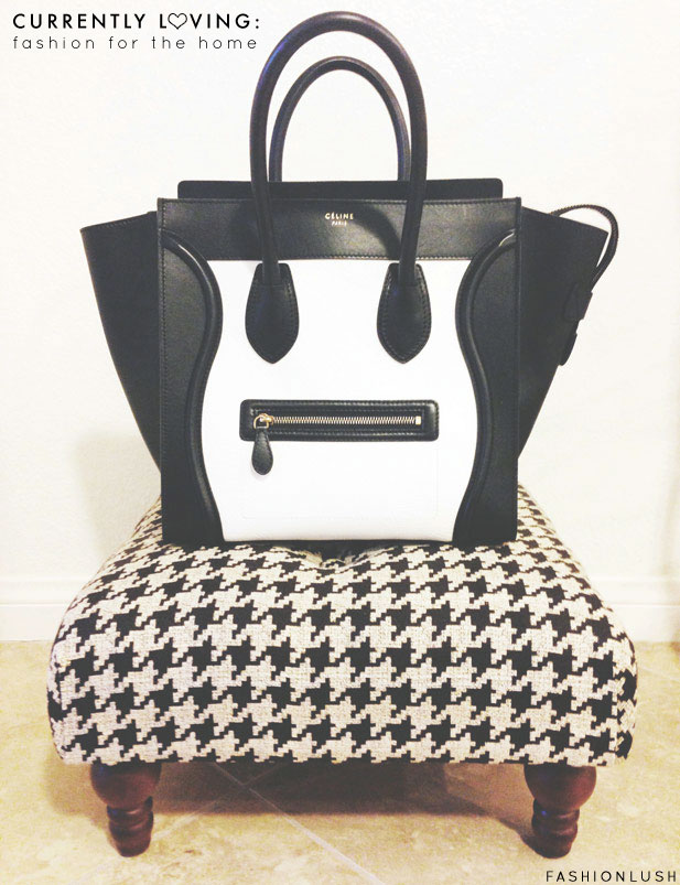black and white celine tote