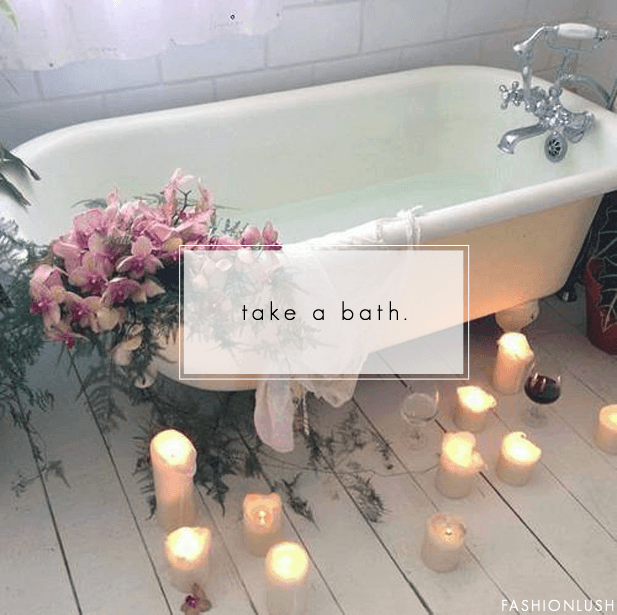 candle lit bath