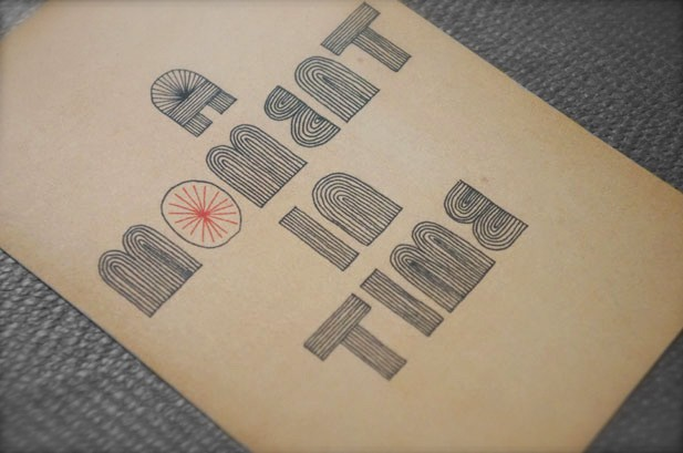 typography postcard