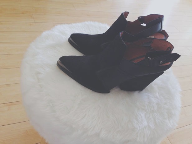 pony hair booties