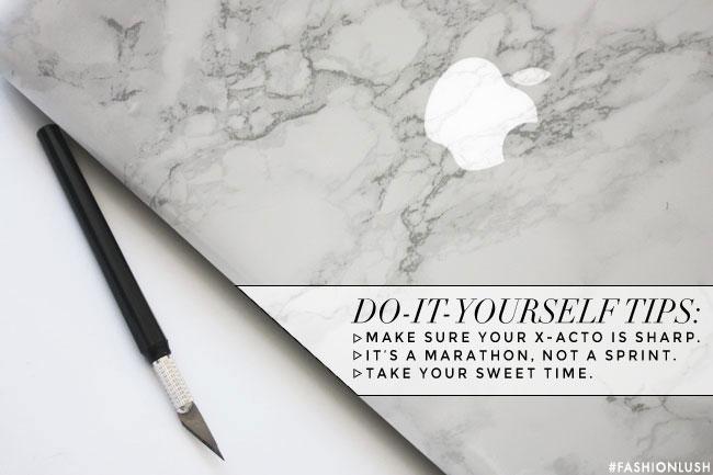 diy, fashionlush, marble laptop