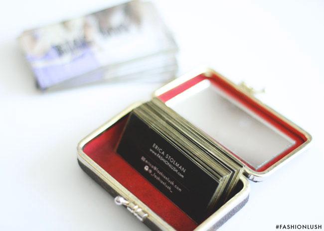 fashionlush, diy, business cards