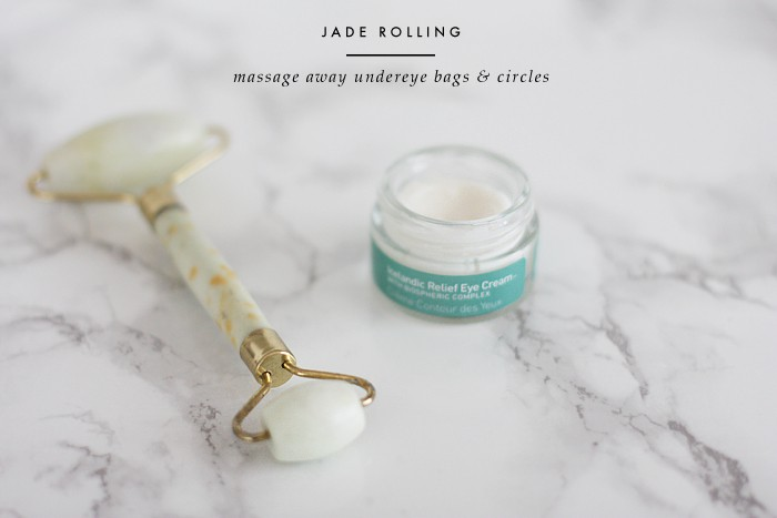 fashionlush, jade roller, lymphatic massage, undereye circles