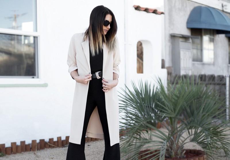 fashionlush, long layers, black and tan combo