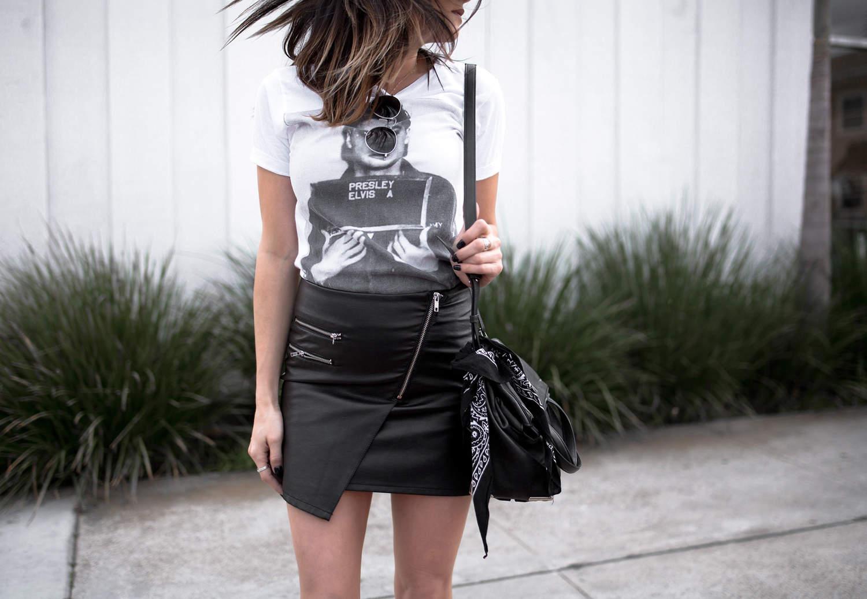 fashionlush, black & white fashion, elvis presley tee