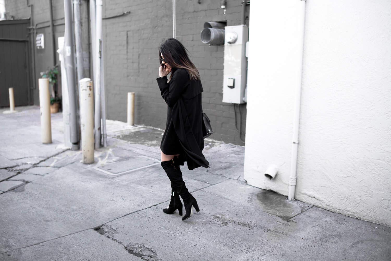 fashionlush, sweater dress, all black outfits