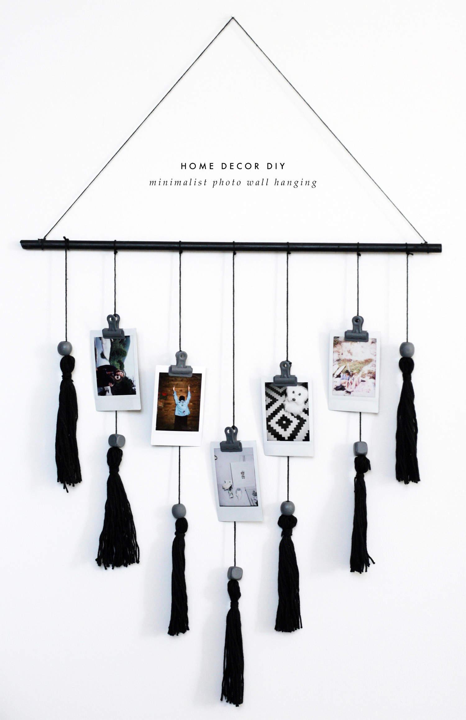 Diy minimalist wall hanging for Minimalist room wall art