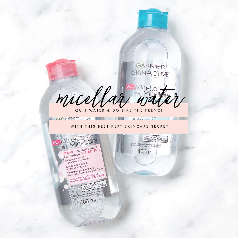 fashionlush, french skincare secrets, micellar water
