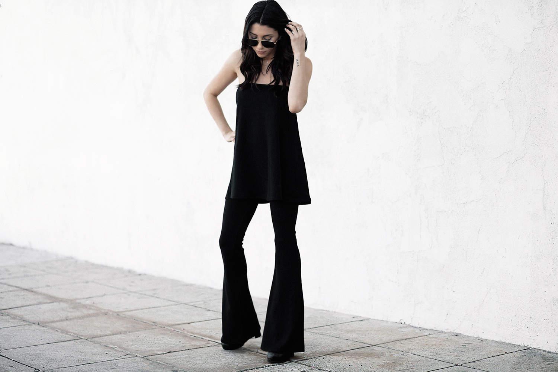fashionlush, all black outfits, tube top, coordinates