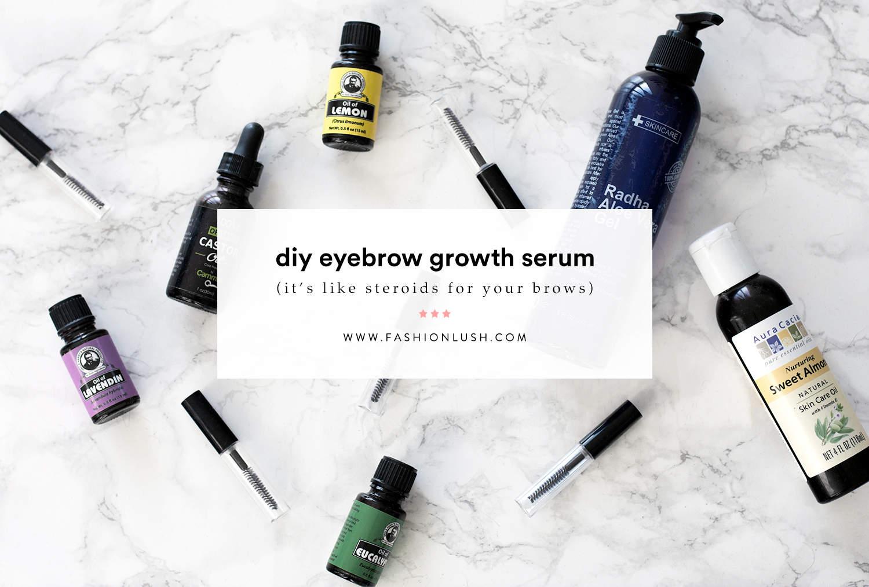 fashionlush, DIY Growth Serum,lash & brow growth