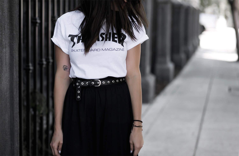 fashionlush, thrasher, skateboarder fashion