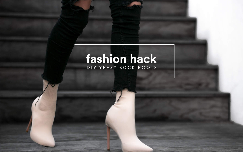 fashionlush, diy, yeezy sock boot