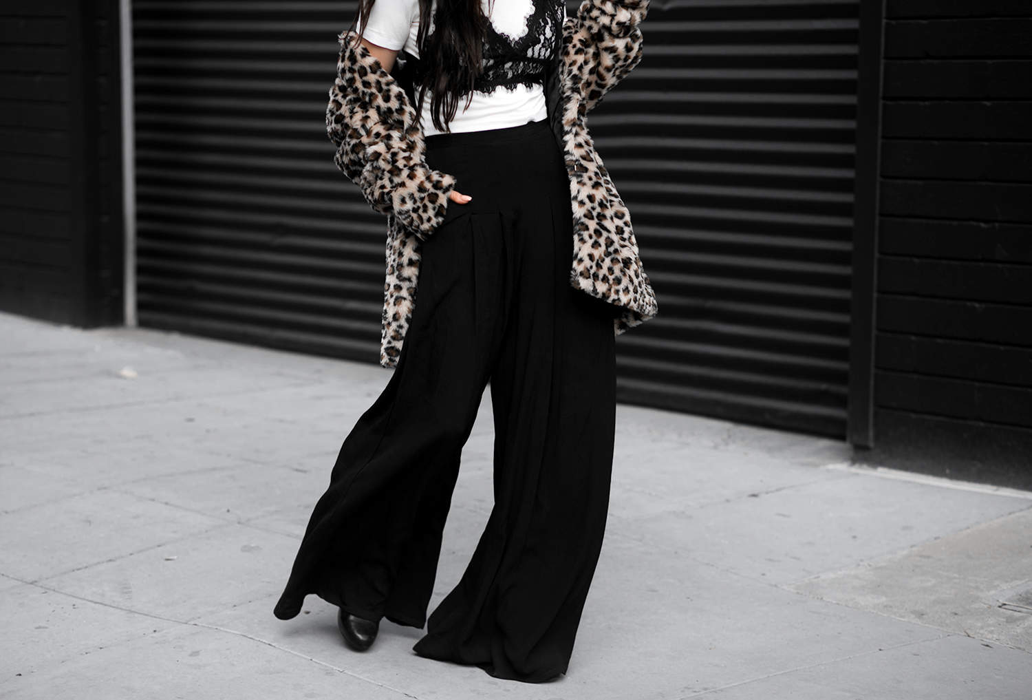 fashionlush, leopard and lace, winter street style