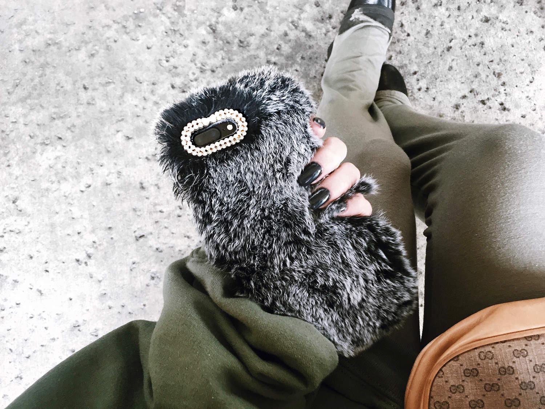 fashionlush, this & that, furry phone case