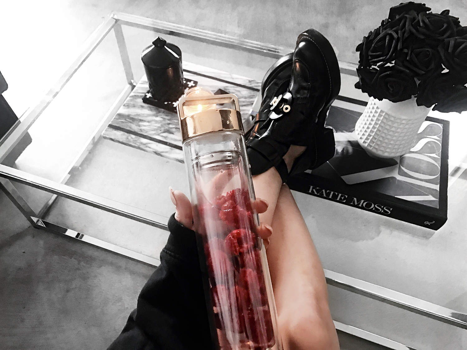 fashionlush, drop bottle, balenciaga ceinture