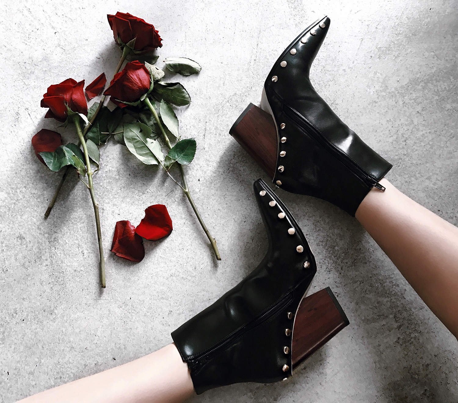 this & that, jessica buurman, studded ankle boots
