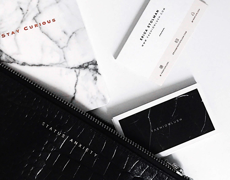 fashionlush, minimal design, blogger branding