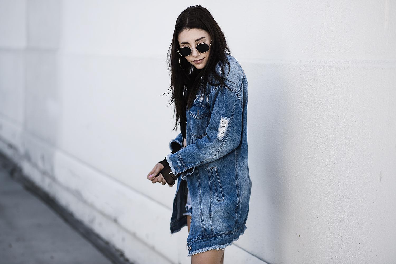 fashionlush, denim on denim, inauthentic blogging