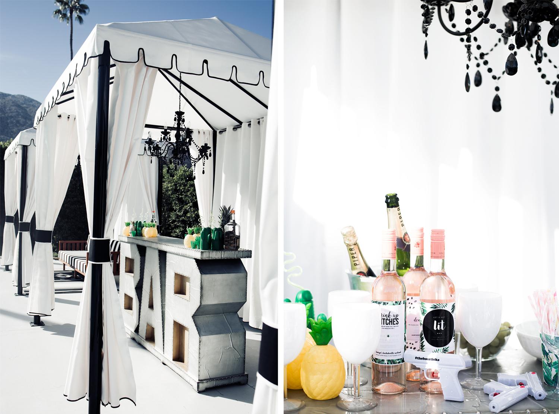fashion blogger, bachelorette part decor ideas